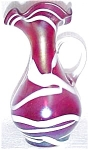 Iridescent Red Glass Pitcher