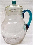 Fry Or Pairpoint Crackle Glass Pitcher