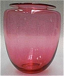 Gold Ruby Deco Vase