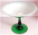 Durand Green Iridescent Compote