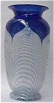 Durand Blue Pulled Feather Vase