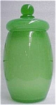 Stevens & Williams Green Jade Lidded Jar
