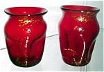 Selenium Red Pinch Mini Vase With Mica