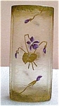 Acid Etched Enameled Vase C. 1910