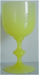 Pv France Yellow Semi Opaque Wine Glass