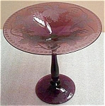 A Keslinger Antiques Amethyst Intaglio Cut Compote