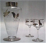 Sterling Overlay Cocktail Glasses