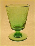 Engraved Green Glass/vase