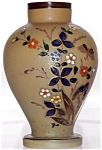Bristol Glass Vase With Enamel Floral