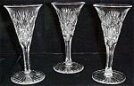 Cut Sherry Stemmed Crystal Glasses