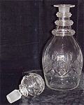 Three Ring Decanter With Hollow Stopper