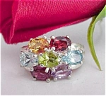 A Keslinger Antiques Multi-stone Cz Ring