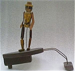 Black Automaton Wood Figure
