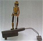 Black Automaton Wood Figure