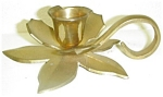 Floral Shaped Brass Candlestick Holder