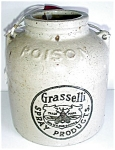 Stoneware Advertising Poison Jug
