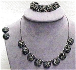 Sterling Repousse Jewelry Set
