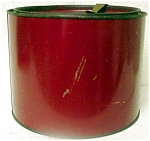 Red Round Tin Tobacco