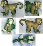 """A Keslinger Antiques Stieff Monkey """"coco"""""""