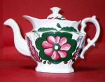 English Sunflower Pattern Teapot 1830