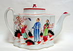 New Hall Porcelain Teapot Boy & Buterfly 1820