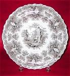 Brown Transferware Rogers Soup Bowl 1835