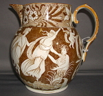 Love Chase Brown Transferware Jug 1820