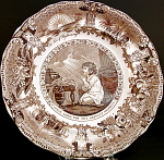 Brown Transferware Samuel Plate 1835
