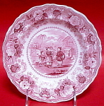 Red Chinese Juvenile Sports Plate Badminton