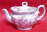 Ridgway Pink Transferware Teapot 1835