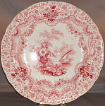 Ridgway Red Transfer Persian Plate 1835