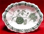Spode Botanical Green Transferware Dish 1835
