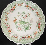 Green Transfer Bird Pattern Plate 1835