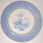 Blue Transferware Mammalia Plate 1835