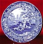 Davenport Blue Transferware Villagers Plate