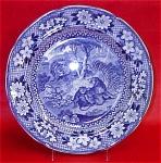 Adams Lions Blue Transferware Plate 1820