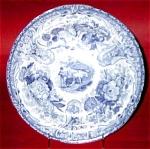 Blue Transferware Vignette Plate 1820