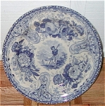 Vignette Blue Transferware Plate 1820