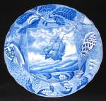Shipping Series Transfer Pearlware Plate 1820