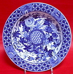 Wedgwood Hibiscus Blue Transferware Soup Bowl