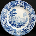 Davenport Blue Transfer Soup With Cows 1820