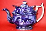 Clews Christmas Eve Dk Blue Teapot A/f C1825