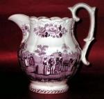 Adams Purple Transfer Harvest Jug 1830