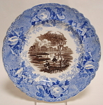 Enoch Wood Two Color Fisherman Plate 1835