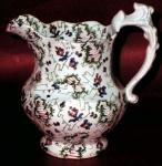Three Color Victorian Chintz Jug 1840