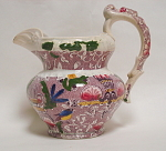Victorian Chintz Purple Jug C 1840