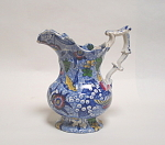 Victorian Chintz Blue Jug Birds And Flowers