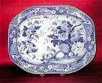 Blue Transferware Pearlware Platter Lovicks
