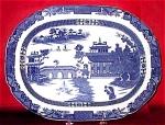 Large Chinoiserie Pearlware Platter 1800