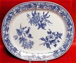 Minton Floral Sprigs Blue Transfer Platter